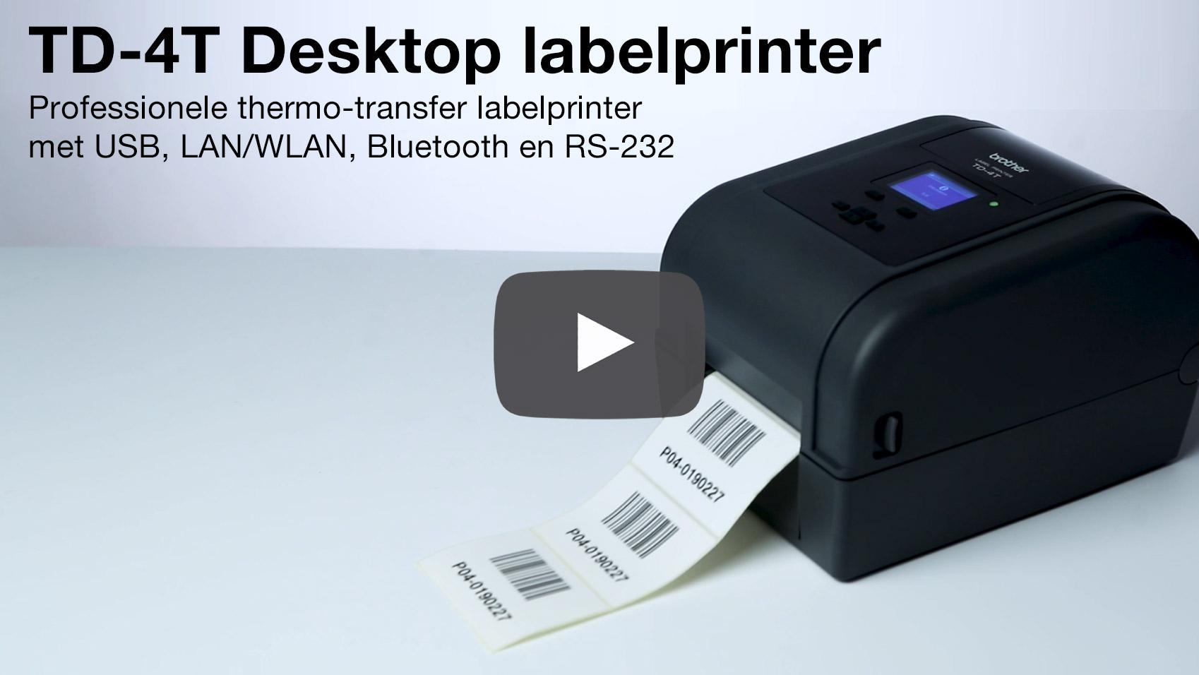 TD-4650TNWBR Professionele thermo-transfer labelprinter met bekabelde/draadloze netwerkverbinding en Bluetooth 6