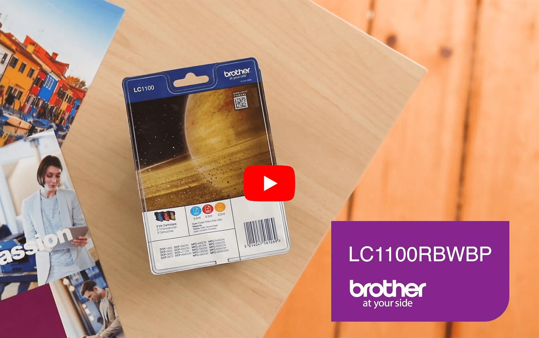 Originele Brother LC-1100RBWBP inktcartridge voordeelverpakking 6
