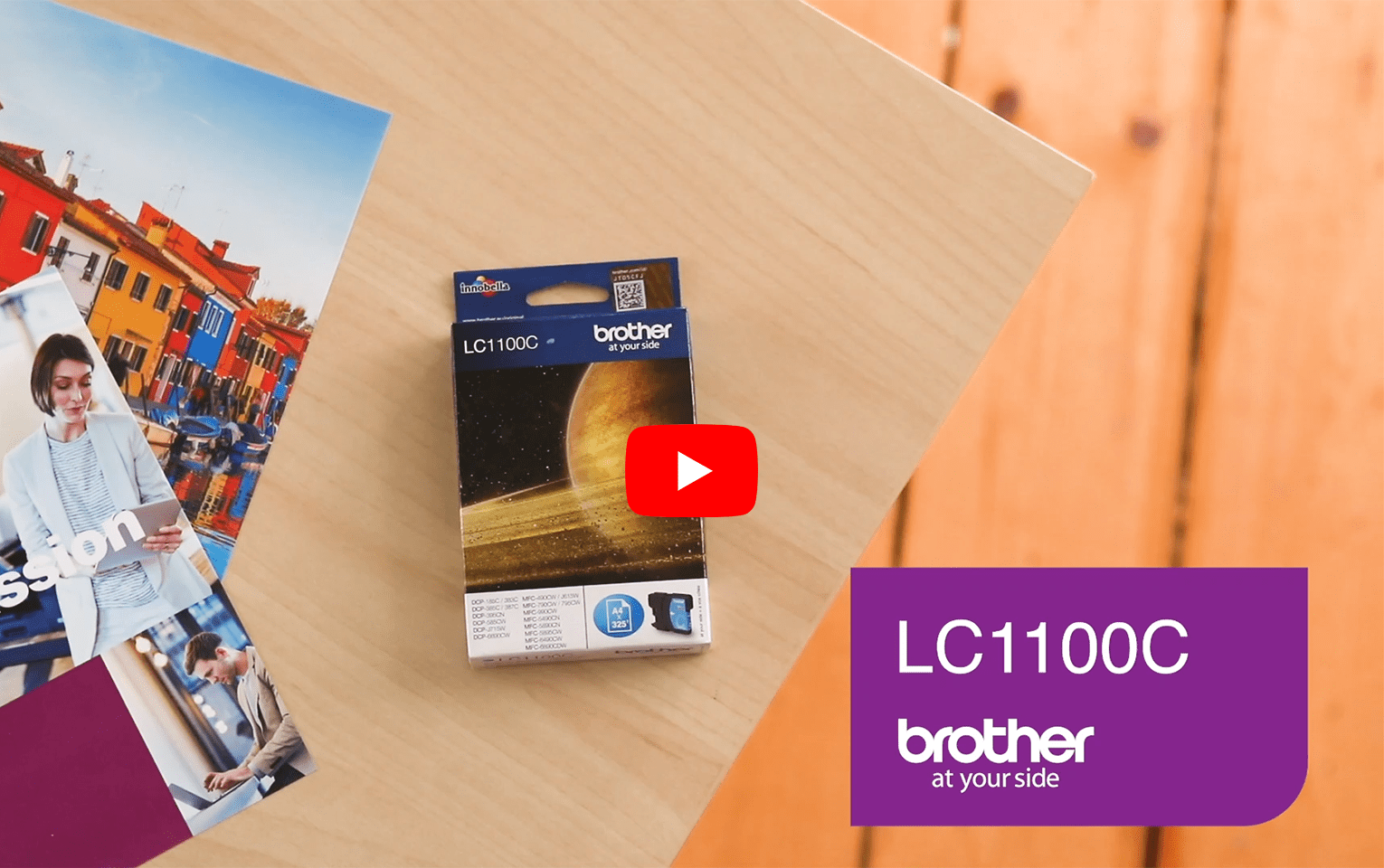 Originele Brother LC-1100C cyaan inktcartridge 5