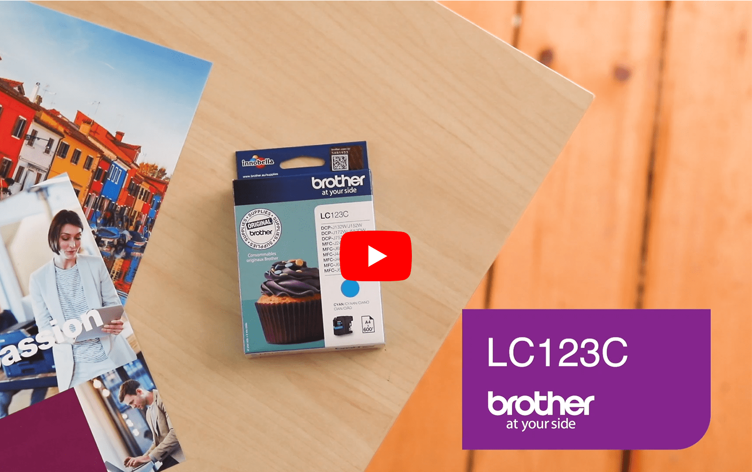 Originele Brother LC-123C cyaan inktcartridge 5