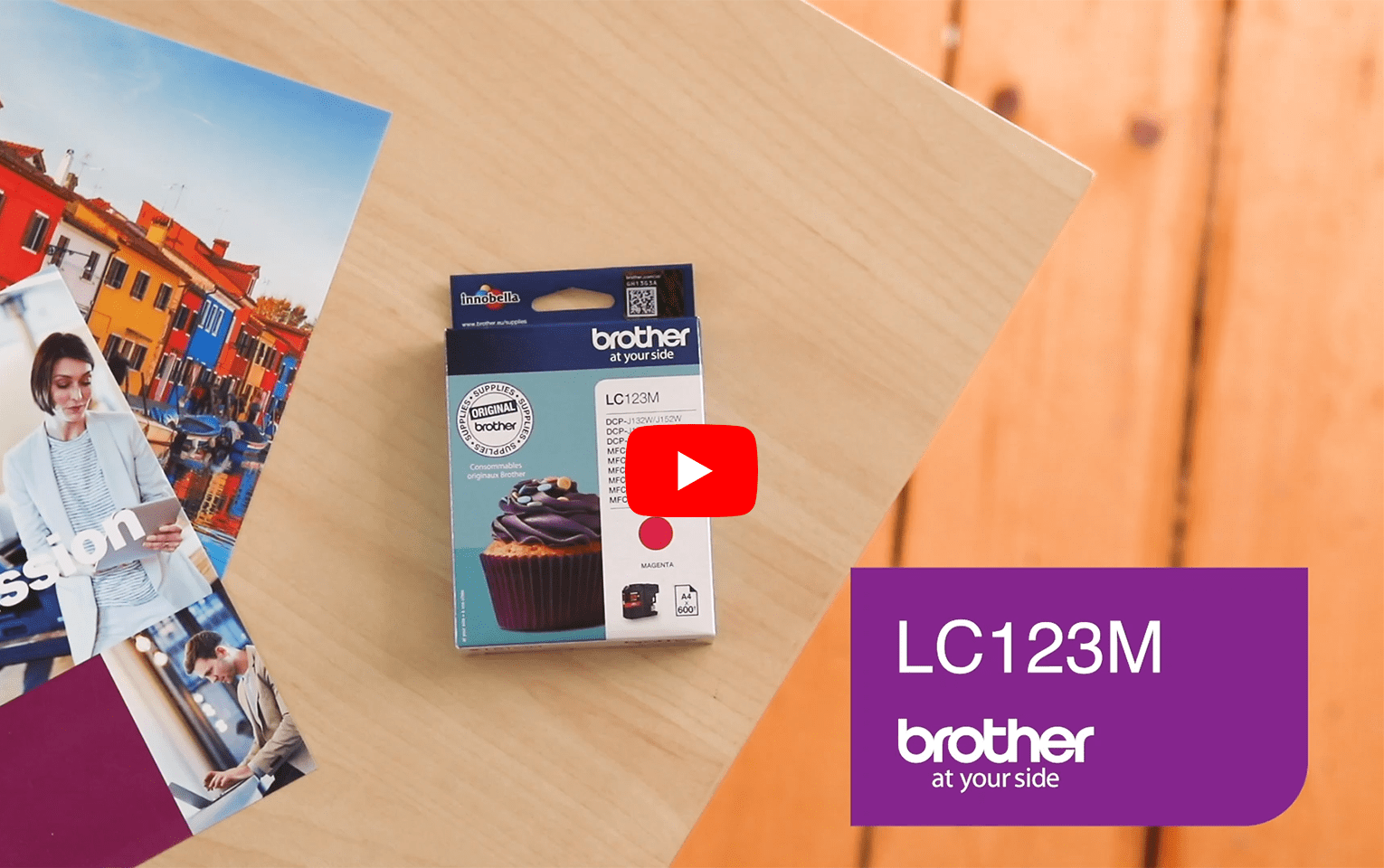 Originele Brother LC-123M magenta inktcartridge 6