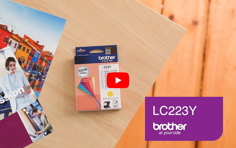 Originele Brother LC-223Y gele inktcartridge 5