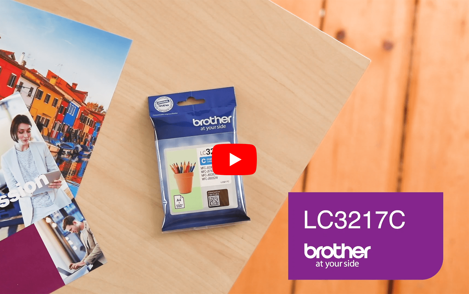 Originele Brother LC-3217C cyaan inktcartridge 5
