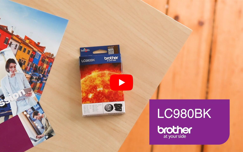 Originele Brother LC-980BK zwarte inktcartridge  5