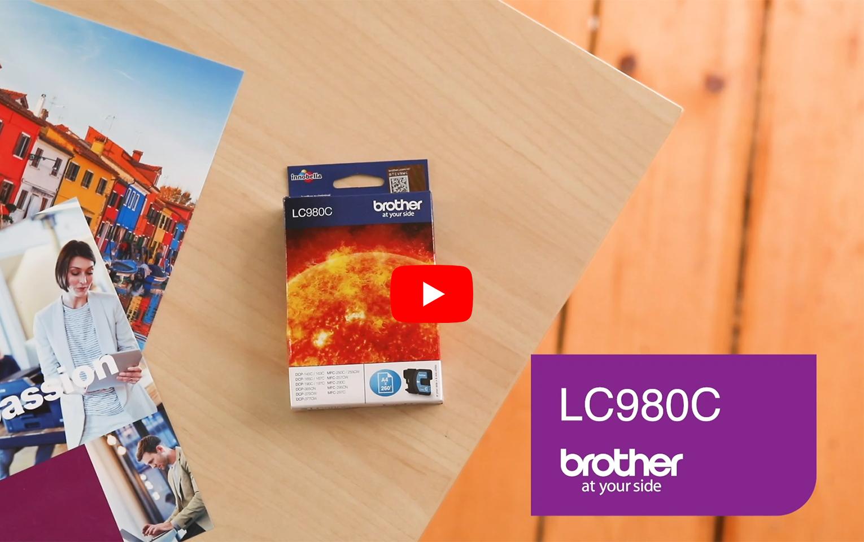 Originele Brother LC-980C cyaan inktcartridge 5