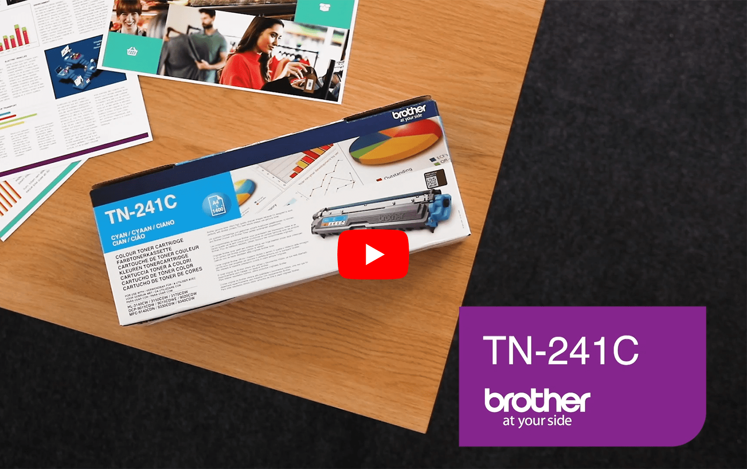 Originele Brother TN-241C cyaan tonercartridge 5