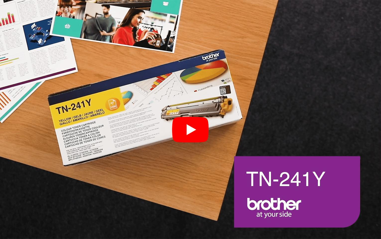 Originele Brother TN-241Y gele tonercartridge 7